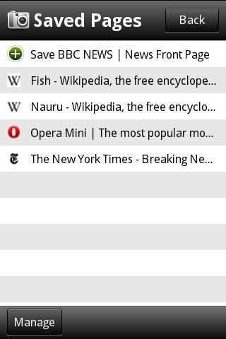 Opera Mini 5, бета