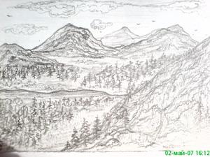 Нарисованные горы