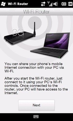 Wi-Fi роутер HTC HD2