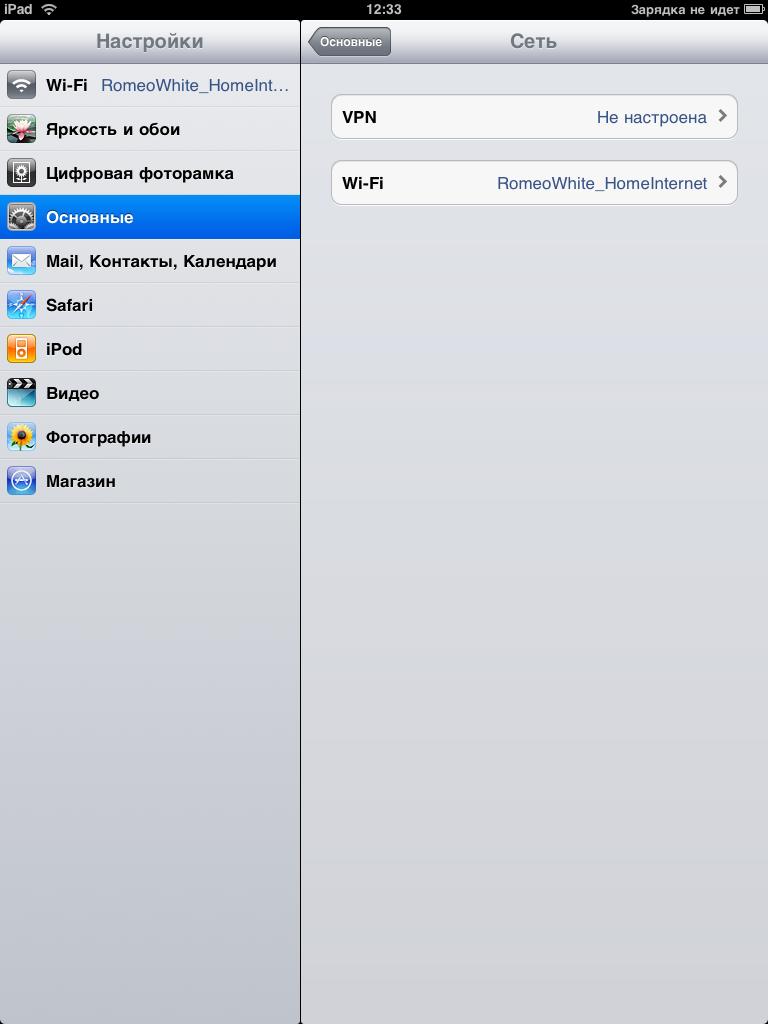 Пароль на программу ipad