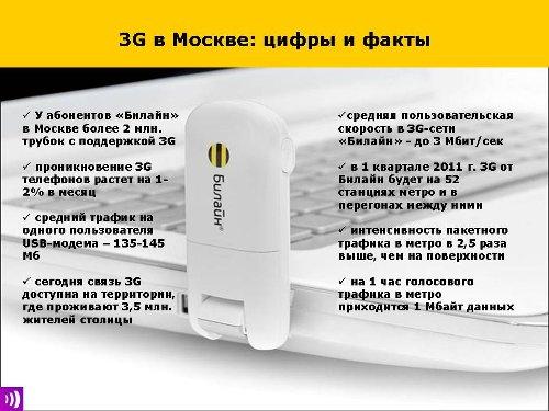Билайн, 3G, Москва
