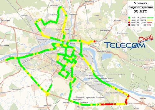 3G в Твери (МегаФон, МТС, Билайн)