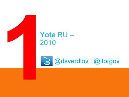 Yota, 2010
