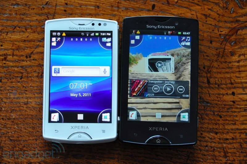 Поколение смартфонов xperia mini и mini pro