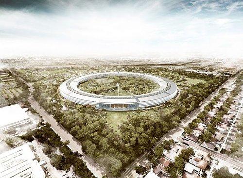 Штаб-квартира Apple. Проект августа 2011