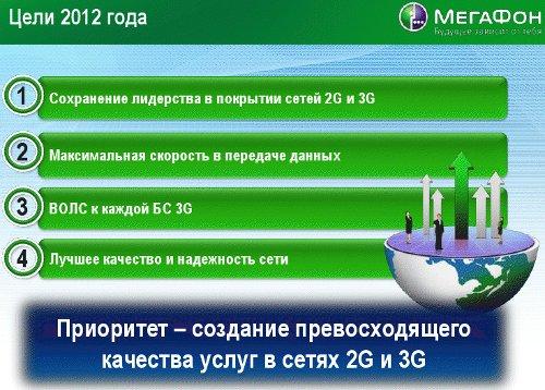 Цели столичного МегаФона в 2012 году