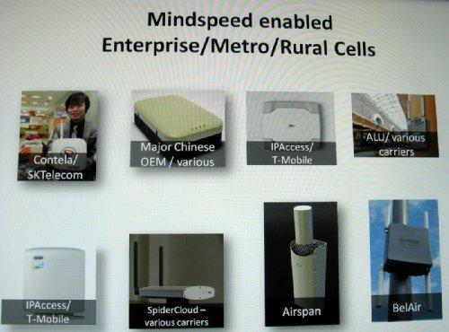 Малые соты на базе решений Mindspeed - Метро, сельские,  для бизнес-пользователей
