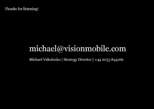 Майкл Вакуленко, партнер, исследования, VisionMobile