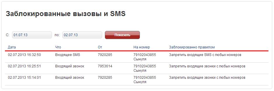 Как сделать чтобы номер телефона мтс был заблокирован