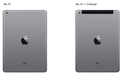 Как отличить планшет только с WiFi и планшет WiFi+LTE