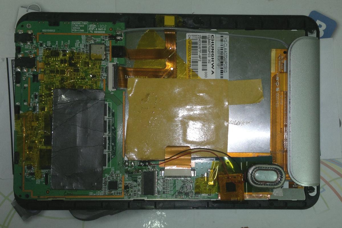 Аккумулятор из старого планшета