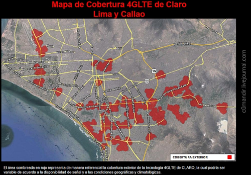 Claro Peru, покрытие LTE в  Лиме