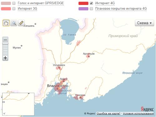 LTE МТС в Приморском крае