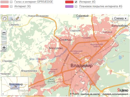МТС LTE во Владимирской области