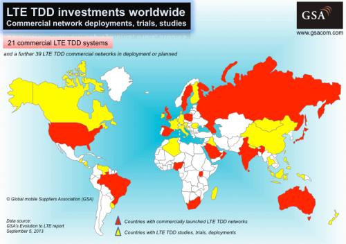 LTE TDD в 2013.09 / GSA