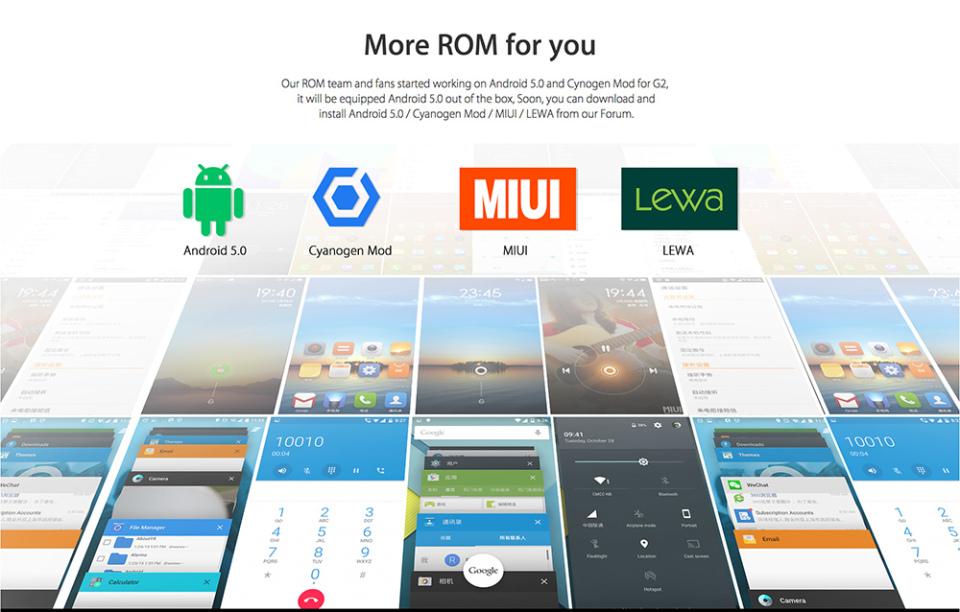 Elephone G2 ROM diverse