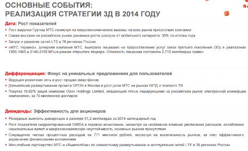 МТС, итоги 2014, с.5
