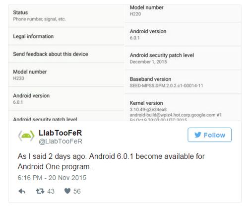 Это интересно: Смартфоны Android One уже получают обновление до Android 6.0.1 Marshmallow