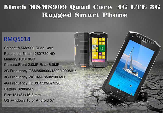 В КНР выпущен влагостойкий смартфон RMQ5018