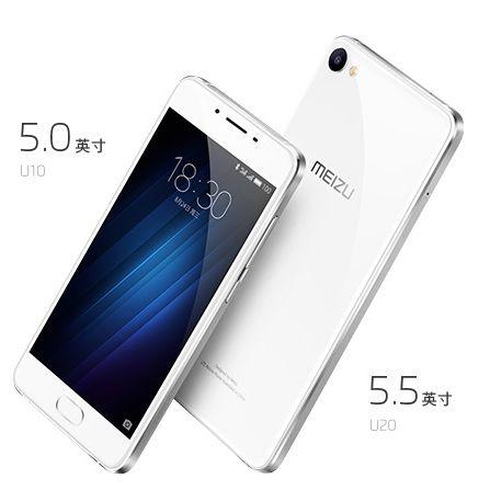 Meizu U10 иU20: дебютировали доступные истильные мобильные телефоны наYunOS