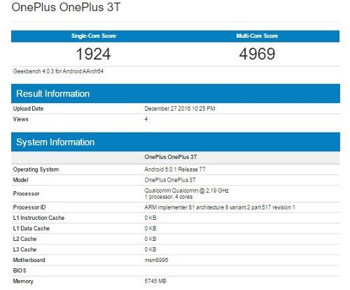 Компоненты: Qualcomm Snapdragon 835 замечен в Geekbench