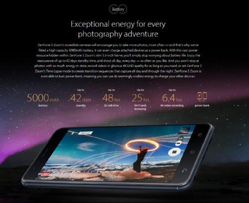 CES 2017: Камера Asus ZenFone 3 Zoom поддерживает 2,3-кратное увеличение