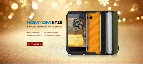 Анонсы: HomTom HT20 – крепкий смартфон с защитой IP68