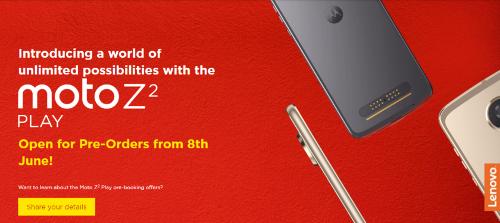Анонсы: Moto Z2 Play будет доступен для предзаказа с 8 июня