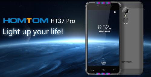 Анонсы: Homtom HT37 Pro получил двойные динамики и Active LED