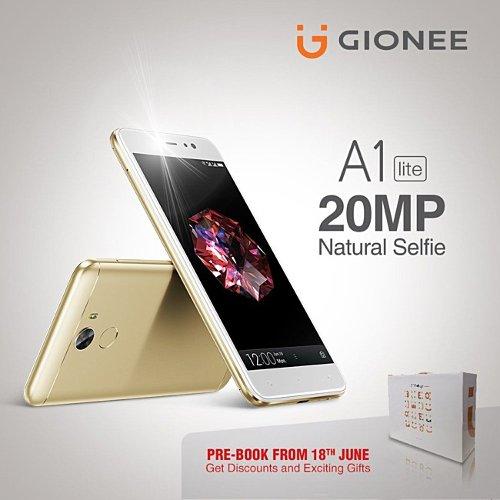 Анонсы: Gionee A1 lite – 20 Мп фронтальная камера и аккумулятор 4000 мАч