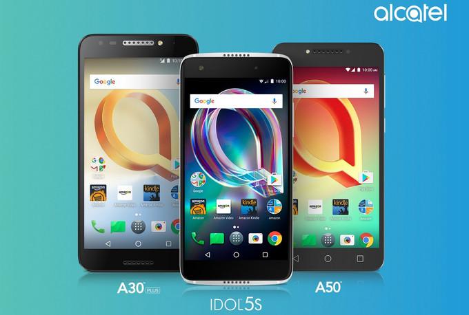 Компания-брэнд Alcatel передала о выходе 3-х новых моделей телефонов
