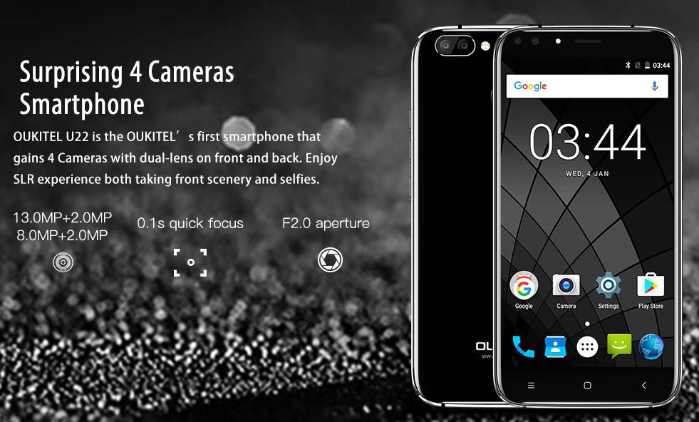 Смартфон счетырьмя камерами за69 долларов создали вКитае
