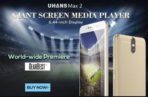Анонсы: Uhans Max 2 – 6,44-дюймовый фаблет с четырьмя камерами