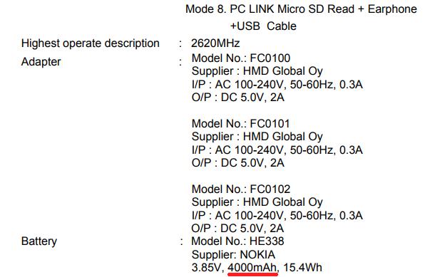 Поимеющимся предварительным данным FCC нокиа 2 будет оборудован аккумулятором 4000 мАч— Слухи