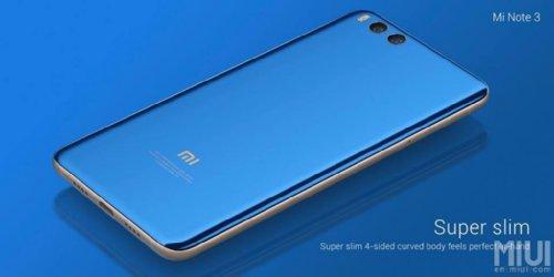 Анонсы: Xiaomi Mi Note 3 со сдвоенной камерой и Snapdragon 660 представлен официально