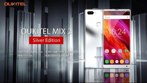 Анонсы: Oukitel Mix 2 Silver украсили зеркальной задней крышкой