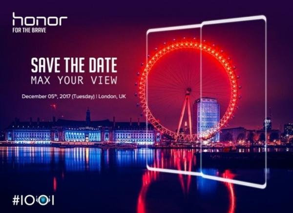 Слухи 5 декабря будет представлен безрамочный Honor V10 с 6 Гб ОЗУ