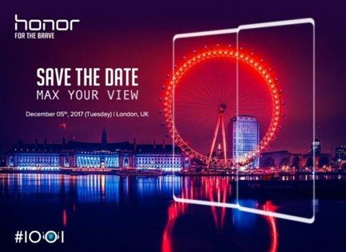 Слухи: 5 декабря будет представлен безрамочный Honor V10 с 6 Гб ОЗУ