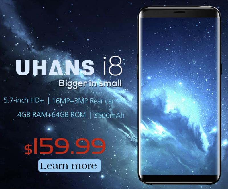На телефоне Uhans i8 будет установлена система распознавания лиц