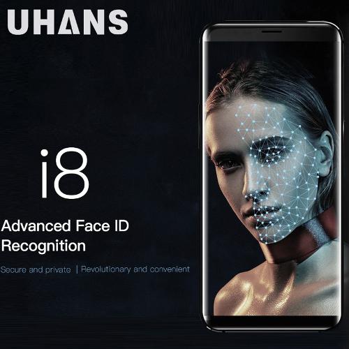 Анонсы: UHANS I8 с безграничным дисплеем и распознаванием лиц оценен в $129,99