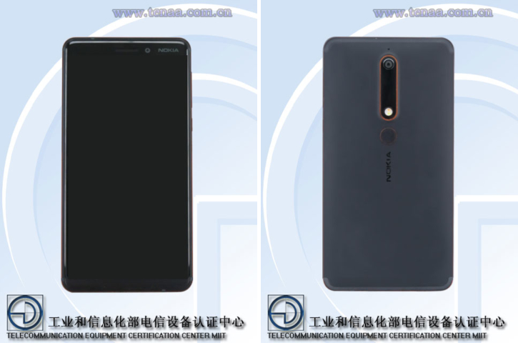 Слухи Nokia 6 с экраном 18:9 появился в TENAA
