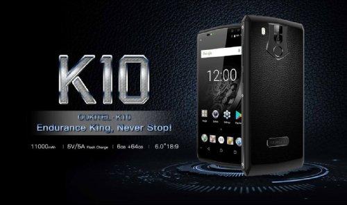 Анонсы: Oukitel K10 – смартфон с аккумулятором 11000 мАч