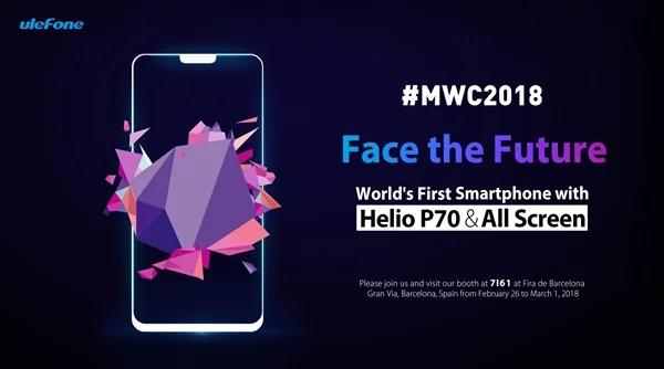 Модель телефона Ulefone T2 Pro будет первым обладателем MediaTek Helio P70