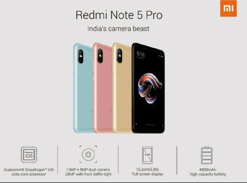 Слухи: Спецификации Xiaomi Redmi Note 5 и Redmi Note 5 Pro стали известны накануне анонса