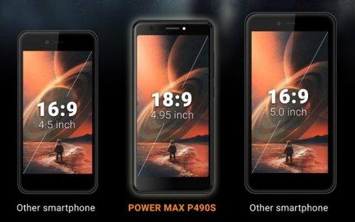 Анонсы: Energizer Power Max P490S 4G – первый в мире смартфон с 4,95-дюймовым дисплеем 18:9