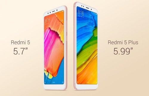 Анонсы: Объявлены российские цены Xiaomi Redmi 5 и Redmi 5 Plus