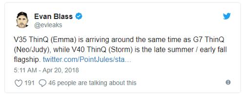 Слухи: LG V40 с  кодовым именем Storm могут представить в конце лета