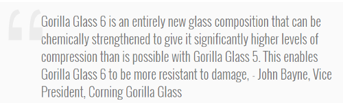 Компоненты: Corning Gorilla Glass 6 – новое поколение прочного стекла