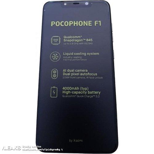Слухи: Стали известны все спецификации Xiaomi Pocophone F1