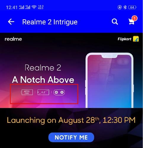 Анонсы: Realme 2 получил 6,2-дюймовый HD-дисплей и Snapdragon 450